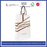 Luxuxkleinträger-Beutel für das Einkaufen bereift Kleid-das kosmetische Geschenk-Verpacken