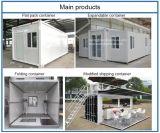 casa plegable del envase prefabricado barato del paquete plano de los 20FT/casa modular