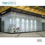el panel de pared acústico decorativo interior de la fibra de poliester del fondo 3D/el panel de techo