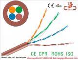 UTP Cat5e 근거리 통신망 케이블 CCA/Cu 커뮤니케이션 케이블 가자미 시험 통행 CPR 세륨