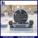 De zwarte Grafstenen van het Graniet met Vazen voor Begraafplaats