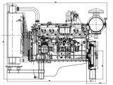 Turbocharged und Zwischen-Abgekühlter Dieselmotor verwendet für Generator
