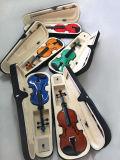Таможня выдвинула случай Handmade черной скрипки профессиональный сделанный в Китае