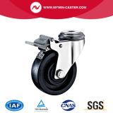 Bolzenloch-Schwenker-Hochtemperaturfußrolle mit Bremse