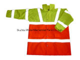 Upa013 poliéster Oxford PVC/PU Non-Breathable/PU respiráveis cubra Parka Casaco casaco