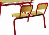 Mobiliário escolar do aluno duplo de madeira, secretária e cadeira (FS-3232)