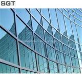 Low-E tintados fachada muro cortina de vidrio reflectivo vidrio