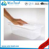 Сертификат бисфенол-А прозрачной пластиковой 1/2 размера крышки багажника с насечкой с ложкой паз
