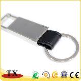 Corrente chave de couro do plutônio do metal profissional do retângulo do fabricante