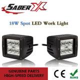 Indicatore luminoso quadrato impermeabile del lavoro del punto LED di 3inch 18W per fuori dai veicoli stradali