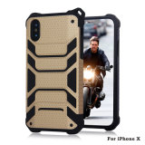 Cas de luxe du combo 2in1 TPU+PC de Shorlproof pour l'iPhone X