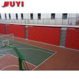 precio de fábrica Juyi Personalizar telescópico eléctrico ajustable de banco de madera Bleacher Gimnasio