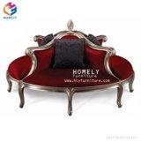 Sofá real elegante Hly-Sf40 da parte traseira da elevação da madeira contínua