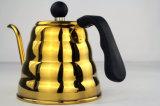 Teapot do potenciômetro da chaleira do gotejamento do potenciômetro e do café do chá do aço inoxidável com Straine