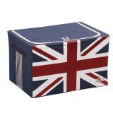 Hogar sencillo patrón distintivo resistente caja de almacenamiento de paño de juguete Kid