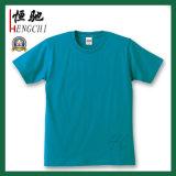 남자를 위한 보통 면 또는 스판덱스 또는 폴리에스테 운동복 체조 t-셔츠