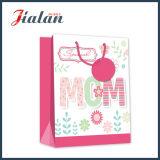 Bolsos de compras de papel impresos OEM de encargo de la insignia del diseño del día de fiesta del girasol