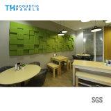 Panneau de mur 3D décoratif intérieur amical de fibre de polyester d'Eco pour l'école/conférence hall