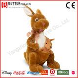 En71 abrace el muñeco de peluche juguetes blandos canguro de peluche para niños