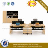 2 portées L partition de bureau de personnel de boîtier de poste de travail de forme (HX-8N0217)