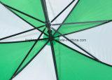 우산을 광고하는 두 배 늑골 골프