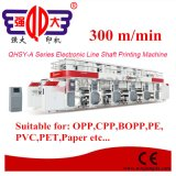アルミホイルのための300m/Min電子ラインシャフトのグラビア印刷の印字機
