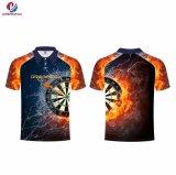 Les vêtements de sport professionnels de Dreamfox conçoivent la chemise en fonction du client de polo de sublimation