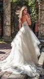 A - la ligne robe de mariage sans bretelles Shinny les robes de bille de Tulle de lacet d'amoureux de robes de bal d'étudiants d'usager L6043
