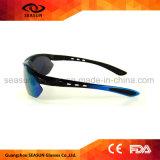 Bras changeables de l'une seule pièce HD de visibilité de lentille faite sur commande d'enduit faisant un cycle pilotant des lunettes de soleil de sports