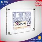 Foto/marcos laterales dobles de acrílico transparentes con los imanes