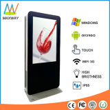 49インチの日光の表示(MW-491OL)を広告する読解可能な床の立場屋外LCD