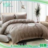工場供給の綿のブラウンの寝具はホテルのためにセットした