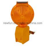 Солнечный светофор предупредительного светового сигнала опасности с кронштейном металла