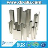Profil en aluminium de polissage anodisé d'or pour la porte de guichet de matériau de construction