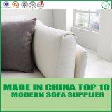 Moderne nordische Möbel-weißes Leder-Freizeit-Feder-Sofa-Couch