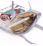 Женщин мультфильм брелоки магазинов дамской сумочке Canvas плечо повседневная сумка на пляже