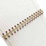 Libro de ejercicio del papel de los estudiantes de la impresión del cuaderno espiral del PVC