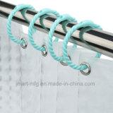 Los ganchos de cortina de ducha de plástico en el tipo de anillo con imán