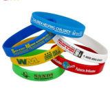 Braccialetto stampato personalizzato del Wristband/di Siliocne di marchio per i regali (YB-SM-02)