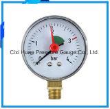 Indicateur de pression de pointeau de caisse de fer doubles/mètre normaux