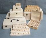Personalizar varias cajas de madera para botellas de aceite esencial