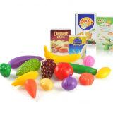 Kind-PlastikEinkaufswagen-Frucht-Spielzeug-Spiel-Set