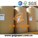 Papier vergé blanc de 100 grammes en roulis fabriqué en Chine