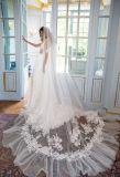 Длинные рукава белого Венеции кружева шифон оболочки свадебные платья H14654