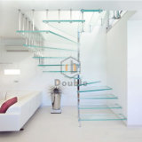 Escalera de caracol escalera de vidrio templado para la casa
