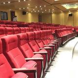 Silla de madera del auditorio con el vector de escritura Yj1619