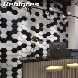 Uno de tres colores pulido pisos de diseño de la superficie esmaltada Azulejo
