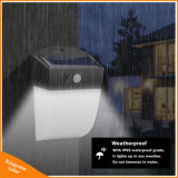 24 voyants de contrôle de la lumière du capteur de mouvement d'énergie solaire Imperméable à l'extérieur de la lampe de feux de mur du jardin de cour de triage avec différents modes de clôture