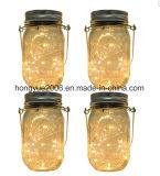 Solar jardín colgante Jar con luz blanca cálida de 20pcs Micro LED String