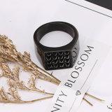 Artesanato de moda jóias de Aço Inoxidável Homem Anel preto